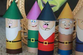 Kandy Kreations: Snow White's Seven Dwarfs Printable Toilet Paper Craft