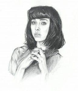 Kimbra pencil drawing by Damian Smith Damiansart