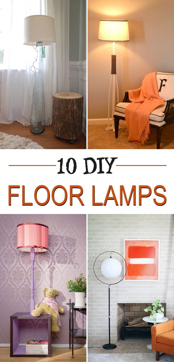 Personalize your home decor by creating your own floor lamp!