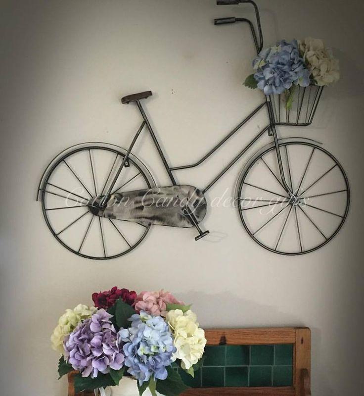Wall mounted metal bicycle
