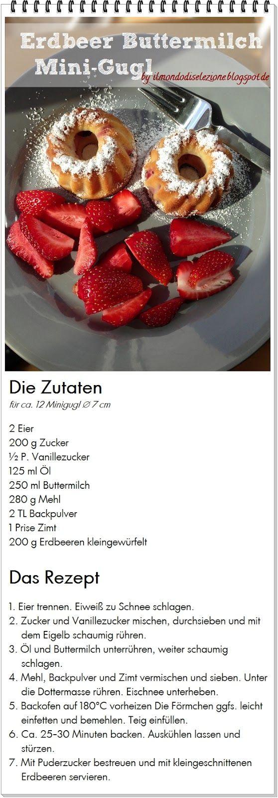 Erdbeer-Buttermilch-Mini-Gugl