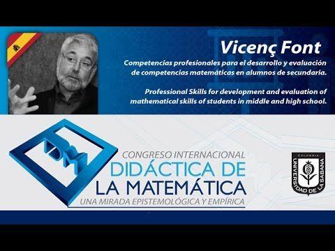 Conferencia Vicenc Font (España) Día 1 Conferencia Didáctica de la Matemática. - YouTube