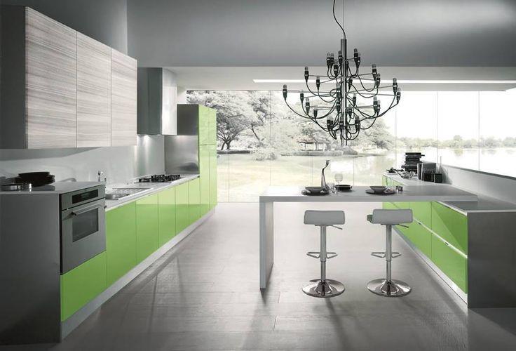 Il #verde in cucina evoca la natura, e rende l'ambiente rilassante ma allo stesso tempo vitale. Non trovate? Condividete le immagini delle vostre cucine colorate con noi!  FLASH » www.cucinesse.it/cucine/flash/