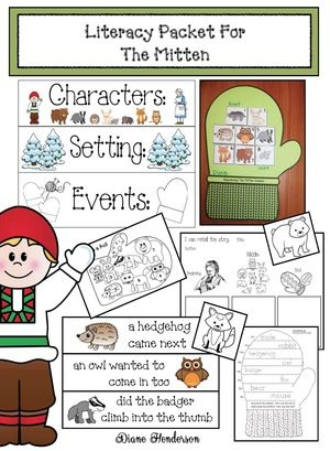 Mitten activities: Quick, easy & fun literacy packet for The Mitten, by Jan Brett. Practices a nice variety of standards.