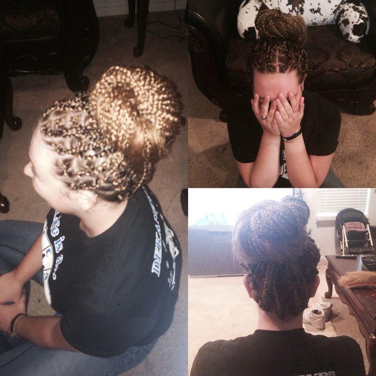 White People Box Braids In A Bun Hair Styles Braids