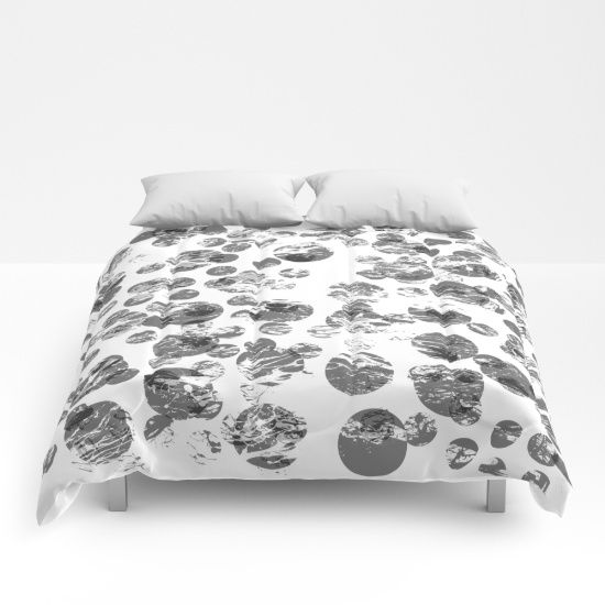 black and white distressed spots duvet cover