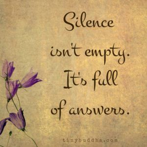 Silence Isn't Empty; It's Full of Answers no more Excuses