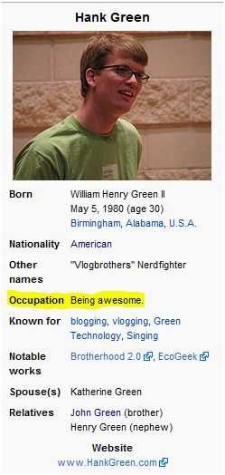 that is every nerdfighter's occupation.