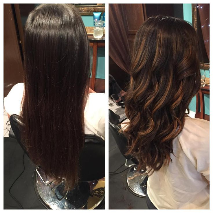 Before And After Brunette Balayage By Caitlyn Brunette Balayage Hair Balayage Brunette Hair
