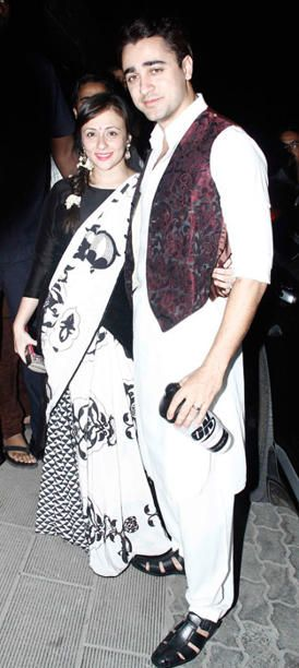 Imran Khan with Wife at Aamir Khan Diwali Bash 2013