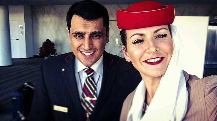 #crewiser from @emiratescabincrew_lovers  @nadeeeeeeeem -  Nothing but smiles all around #crew #crewlife #emiratescrew #emiratescabincrew #proud #blessed #photography #crewfie #igtravel #travel #photography #aircrew #adventure #friends #layover #readytofly #smiles #british #pakistani #redhat #brownjacket #longtrip #memories