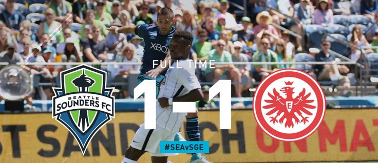 International Friendly Seattle FC vs Eintracht Frankfurt ends in a 1 - 1 draw. With Clint Dempsey scoring the equalizer after assist from Nico Loderio in the 44th minute.