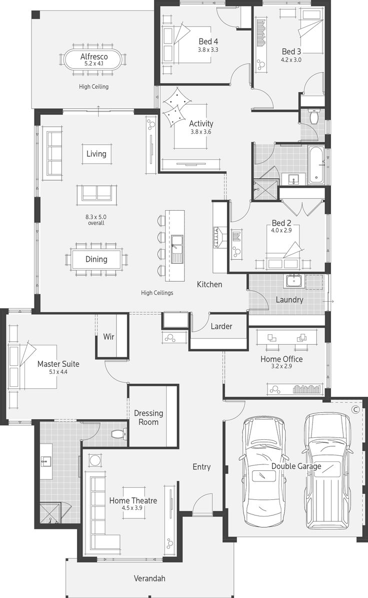 1208 best Floor plans images on Pinterest | House floor plans ...