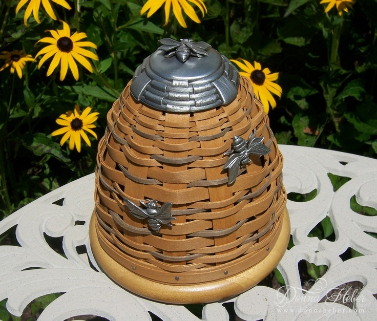 50 best images about longaberger baskets on pinterest bee hives bakers rack and the bible - Wicker beehive basket ...