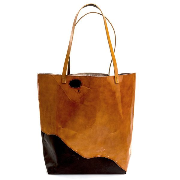 Leather bag Hobo Shopper CAJMEL van CADO accessories op DaWanda.com