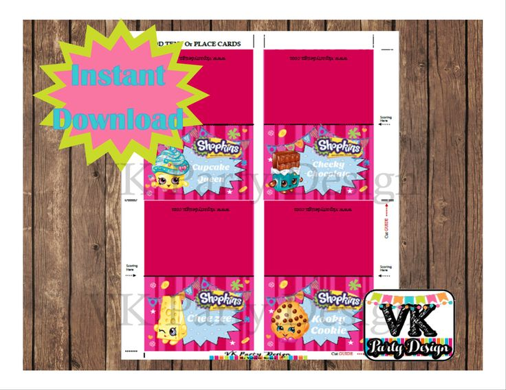 A personal favorite from my Etsy shop https://www.etsy.com/listing/506516630/shopkins-and-shoppies-food-labels-tent