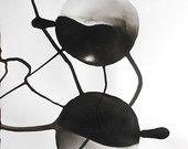 """A3 Multa Zen arte astratta dipinti tradizionale inchiostro nero dipinto 11.7x16.5 a mano """"Okern 826"""""""
