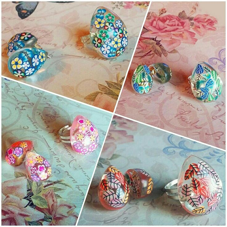 #flowers #spring #rayolabijoux #mypassion #handmade #handmadejewelry #jewelry #instajewelry #earrings #ring