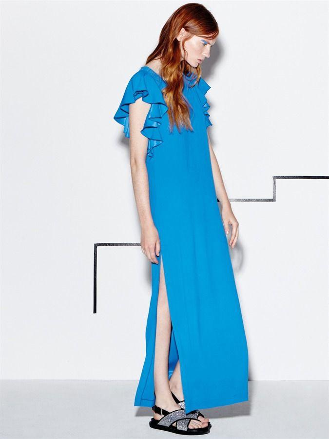 Naughty Dog SS16 long viscose dress