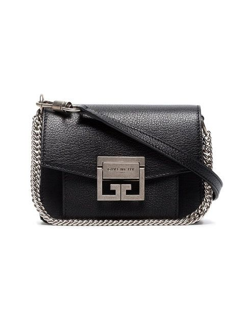 8fdc7c0991f6 Givenchy Black GV3 Mini Leather Cross Body Bag