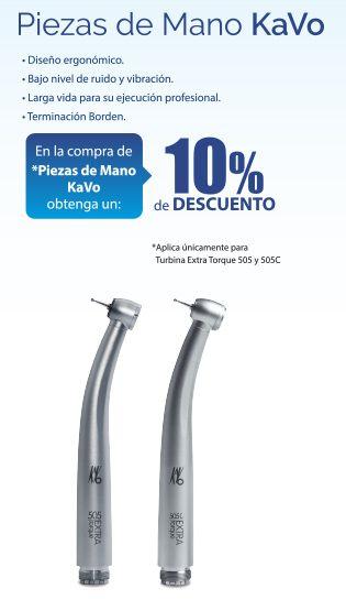 Obtenga un 10% de descuento en Piezas de Mano KaVo