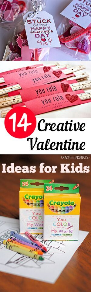 14 Creative  Valentine Ideas for Kids. Valentines, Valentines day ideas, Valentines gift, DIY, holiday, holiday décor, holiday gifts