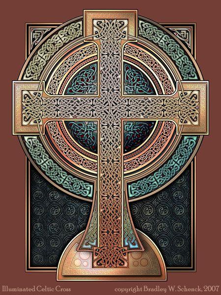 ✯ Illuminated Celtic Cross .. By ~BWS✯