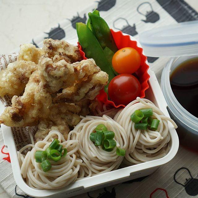 #そば弁当 #豚天 #絹さやのバター醤油炒め #麺弁当 #息子弁当 #クッキングラム  #soba #sobanoodles #porktempura #lunchbox #obento #obentogram #bento #bentobox #bentoexpo #foodstagram #instafood #instabento #japanesefood