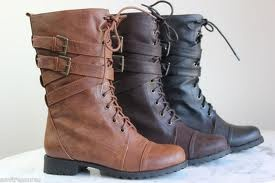 Cute Combat Boots. Love the color of the first pair