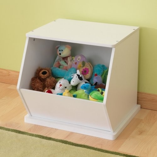 KidKraft White Single Storage Unit traditional toy storage
