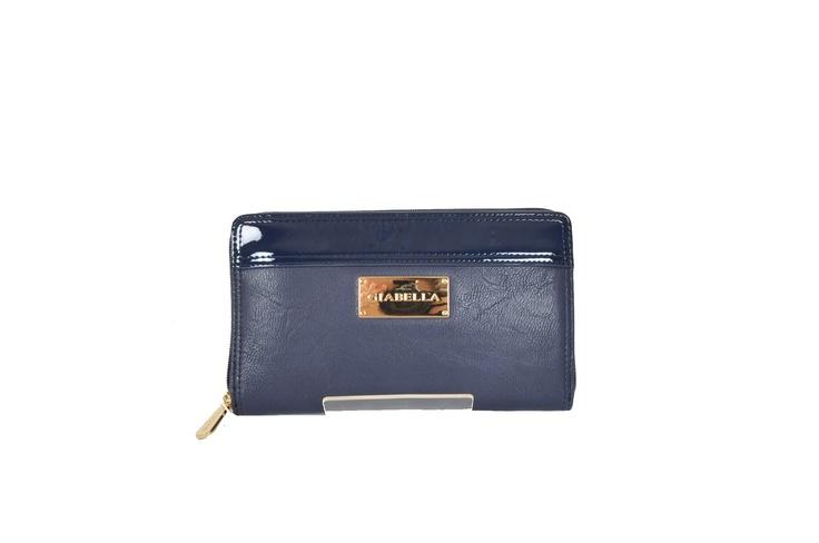 Marian by Giabella Classic Large Wallet in Navy