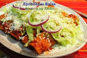 Red Enchiladas Recipe / Receta De Enchiladas Rojas