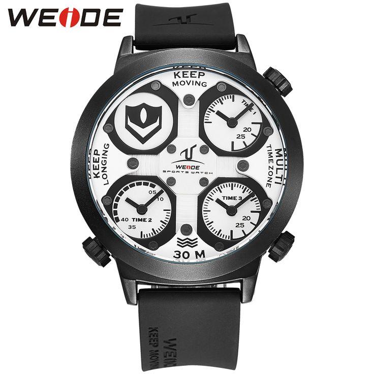 US $62.39 - WEIDE Watch Men Sport Waterproof Relogios Masculinos De Luxo Original Diving Watch Unique Multiple Time Zone Wrist Watch Men