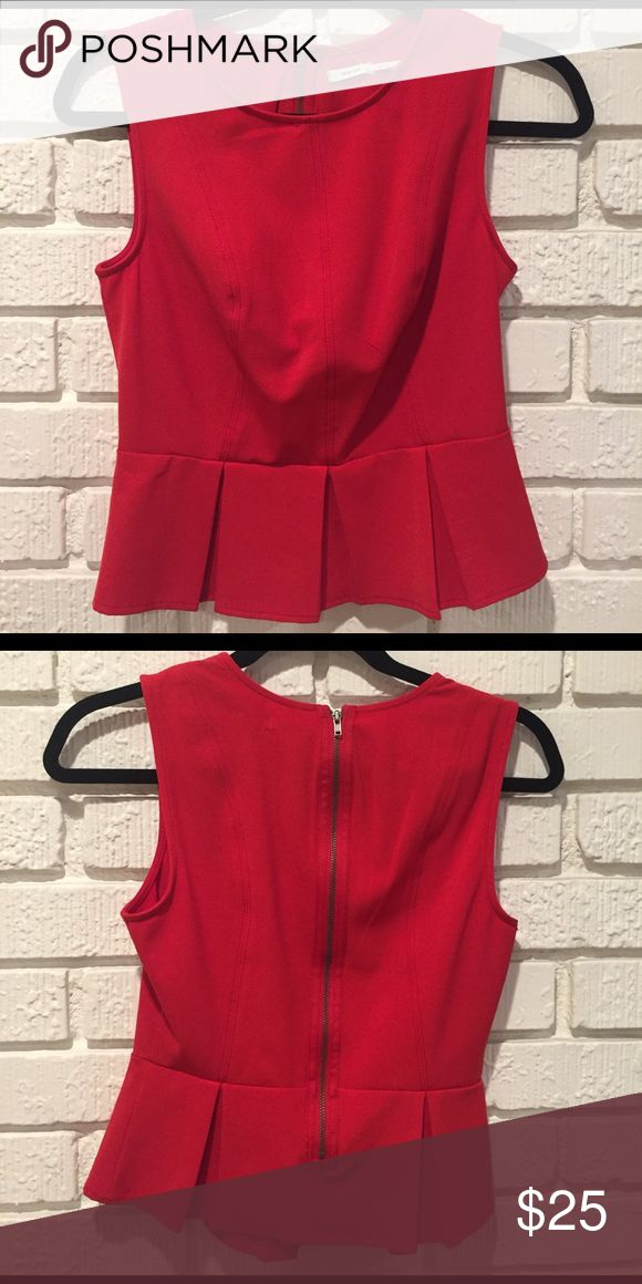 Urban Outfitters Red Peplum Top with Zipper Detail Urban Outfitters Red Peplum Top with Zipper Detail Urban Outfitters Tops