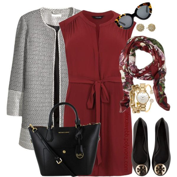 Plus Size - All Business by alexawebb on Polyvore featuring H&M, Tory Burch, Kate Spade, J.Crew, Brooks Brothers, Karen Walker, plussize, plussizefashion, alexawebb and PolyvorePlus