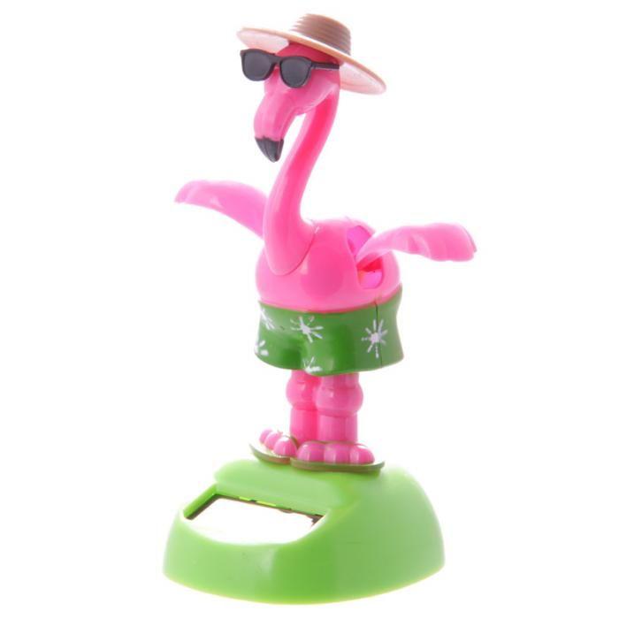 FF54 - Decorazione a Energia Solare - Fenicottero in Costume | Puckator IT #ecogadget #solarpowerdancingtoys #giochisolari #flamingo