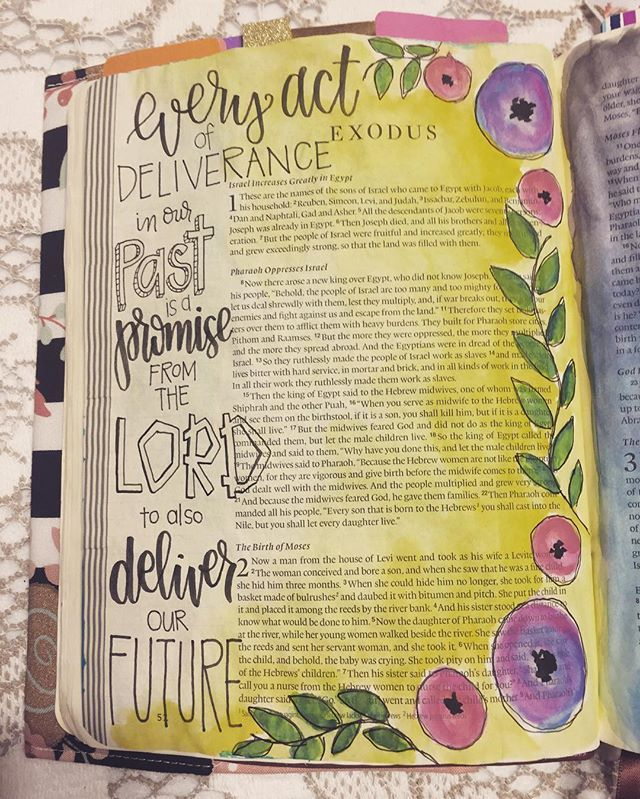 Bible Journaling by Nicki Verbil @nickicreates | Exodus