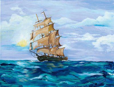 Imfpa Stormy Sea Painting Contemporary Wall Art on Shimply.com