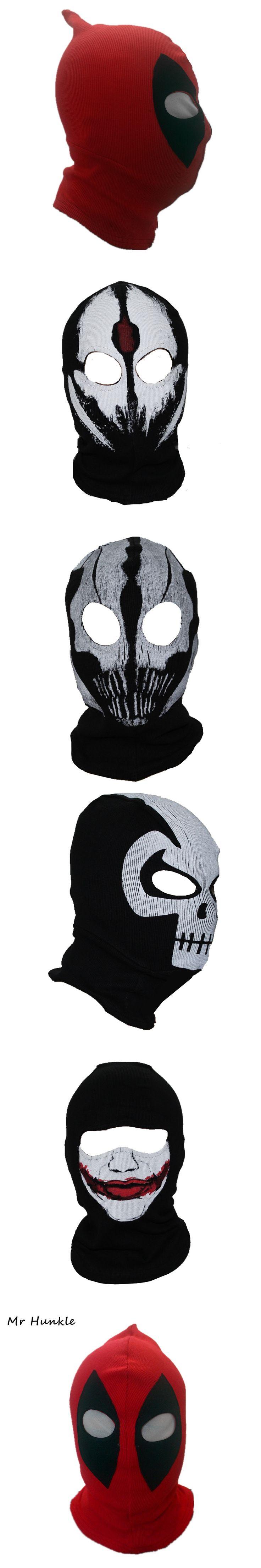 Mr Hunkle New U.S Deadl Masks JLA Balaclava Halloween Cosplay Costume Hats Headwear Deathstroke Rib Fabrics Full Face Mask