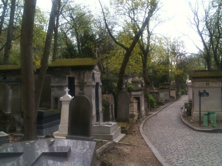 My visit to Pére Lachaise cemitery in Paris. I love my job.