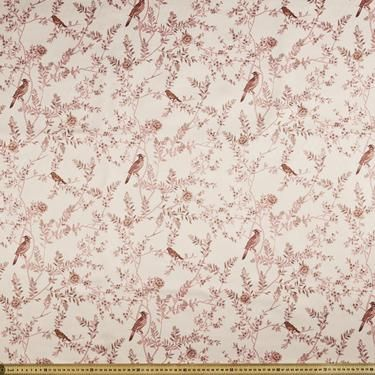 Delustered Satin Floral Fabric