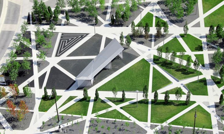 """Where beauty and sustainability meet: Sheridan College Park, designed by gh3 (with Terraplan Landscape Architects). The objective was """"to create a passive urban green space where architecture and landscape, and college and community intersect."""" – Terrapin"""