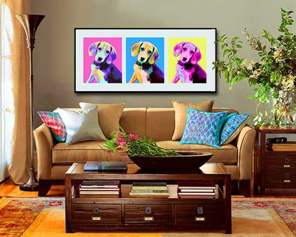 Pop Art Style Makes For An Unusual And Colorful Interior Design. Pop Art Is  An Abbreviation Of