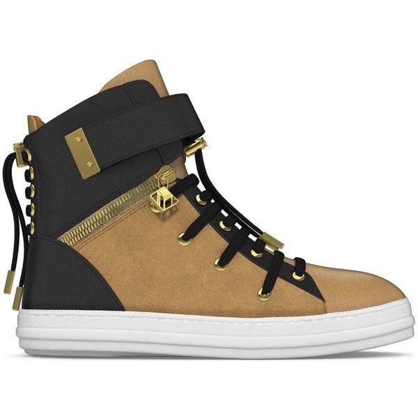 Myswear 'Regent' hi-top sneakers ($690) ❤ liked on Polyvore featuring men's fashion, men's shoes, men's sneakers, grey, mens gray dress shoes, mens grey sneakers, mens high top velcro shoes, mens grey shoes and mens velcro strap sneakers