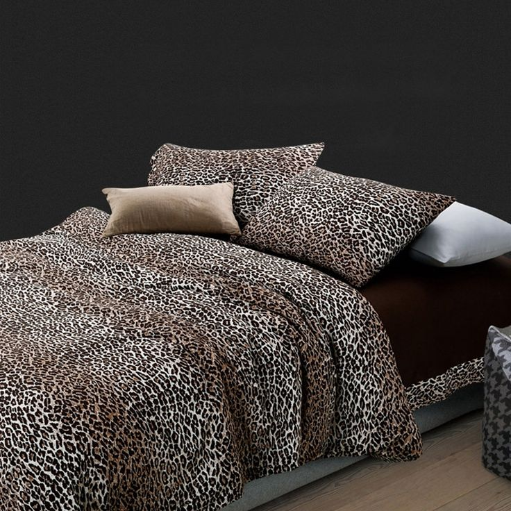 die besten 25 leopardendruck bettw sche ideen auf pinterest gepardenmuster druck bettw sche. Black Bedroom Furniture Sets. Home Design Ideas