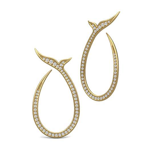 Mermaid gold plated earrings