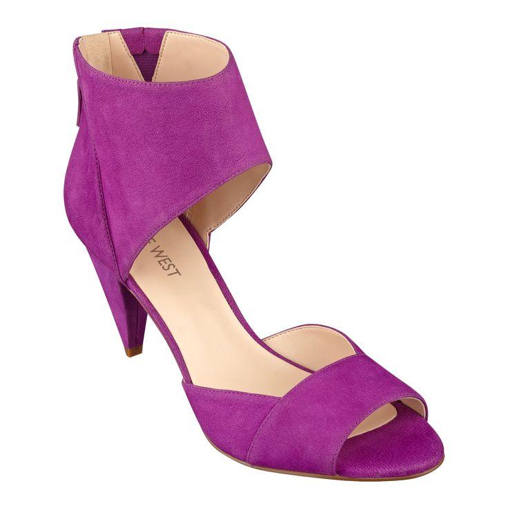 Nine West Lildarlin Peep Toe Pumps - Size 5, Purple
