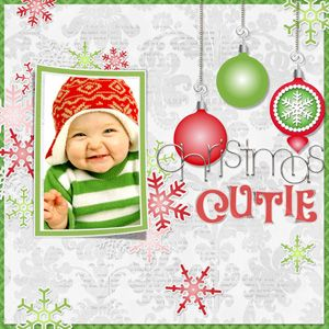 Christmas cutie scrapbook layout.  I love the simpleness of this layout.