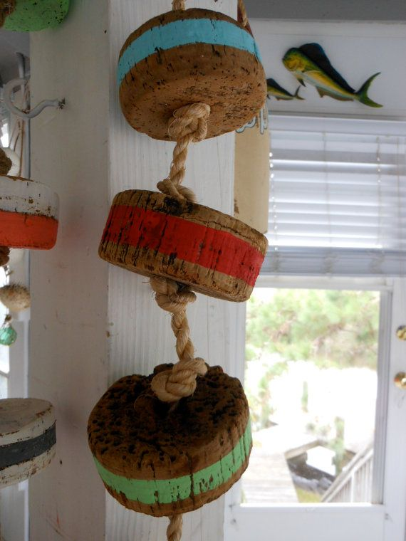 Nautical Buoys Beach Cottage Decor Cork Buoys By Searchnrescue2