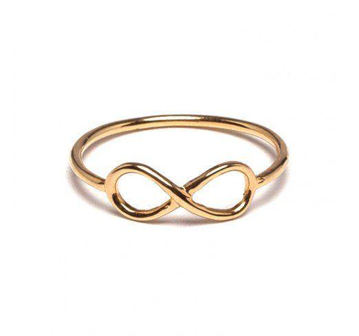 Bague infinity doré